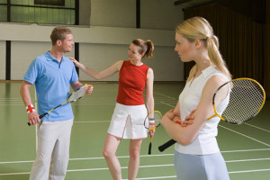 Jealousy on a badminton court