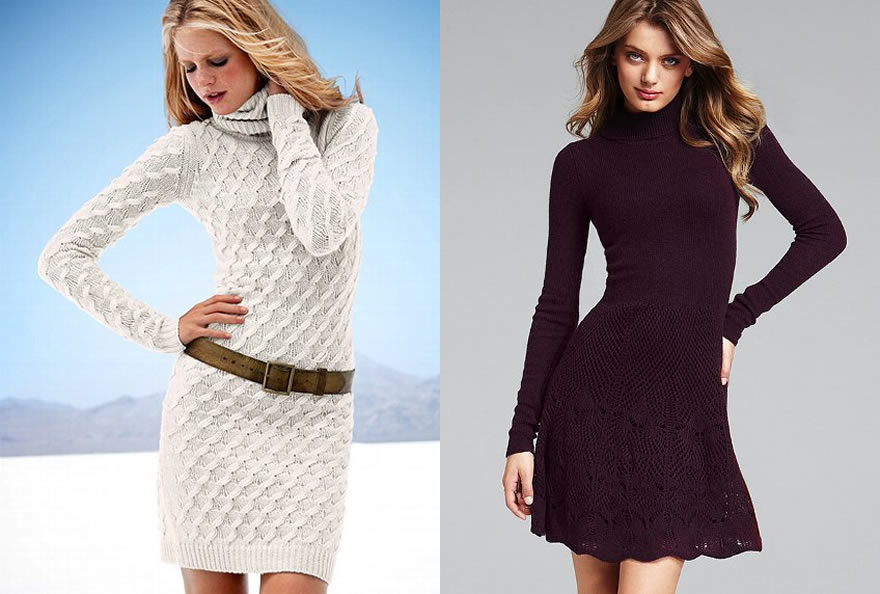 Вязанные платья на зиму